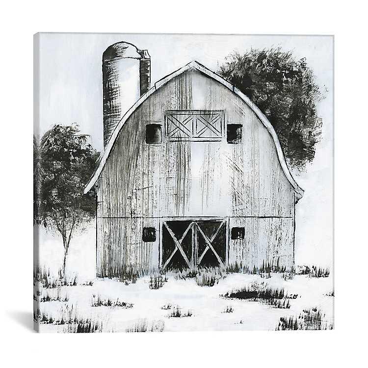 Black And White Barn I Canvas Art Print Kirklands