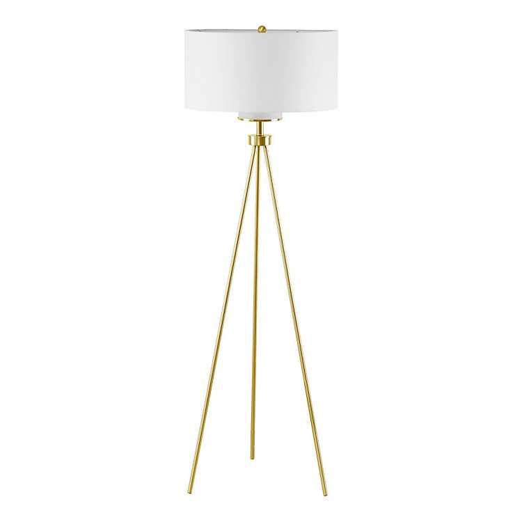 Gold Tripod Floor Lamp Kirklands