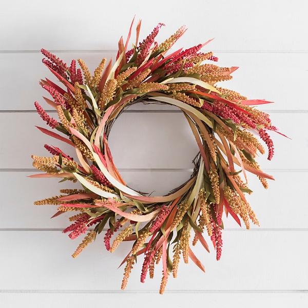 Ombre Wheat Spiral Wreath Kirklands