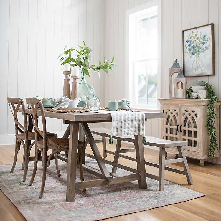 Farmhouse Dining Table Kirklands, Farmhouse Dining Room Furniture Sets
