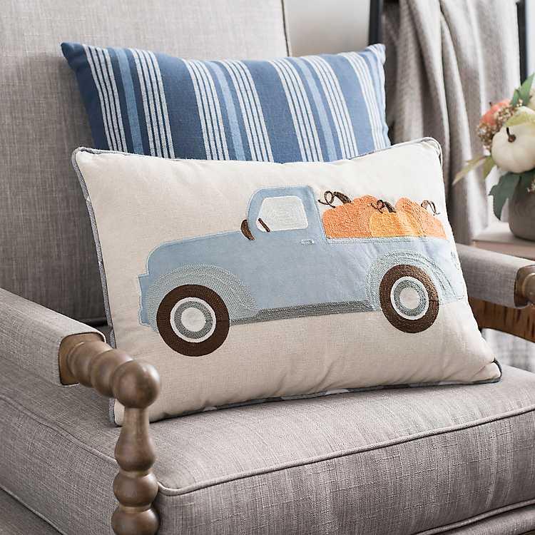 Blue Pickup Truck Pillow Kirklands