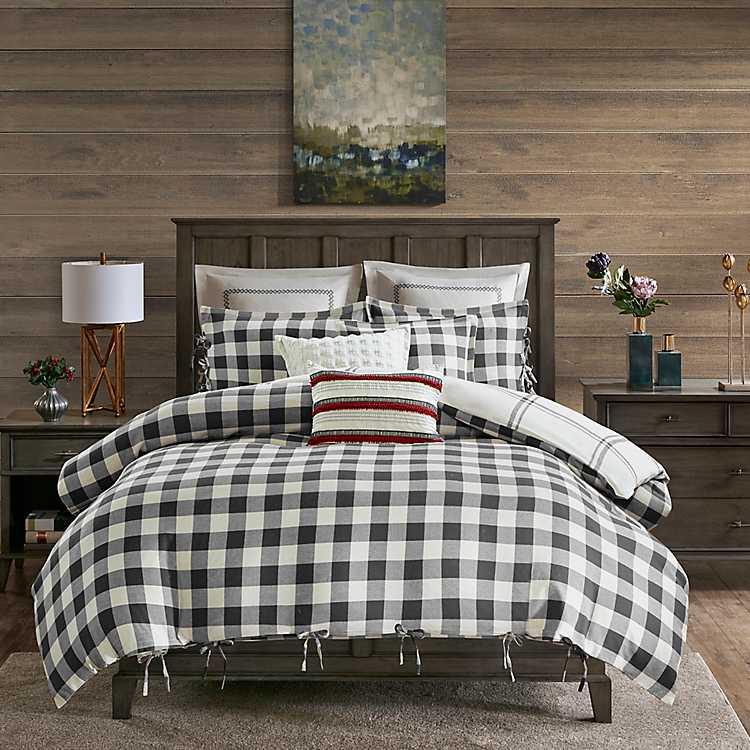 Gray Buffalo Check 8 Pc Queen Comforter Set Kirklands