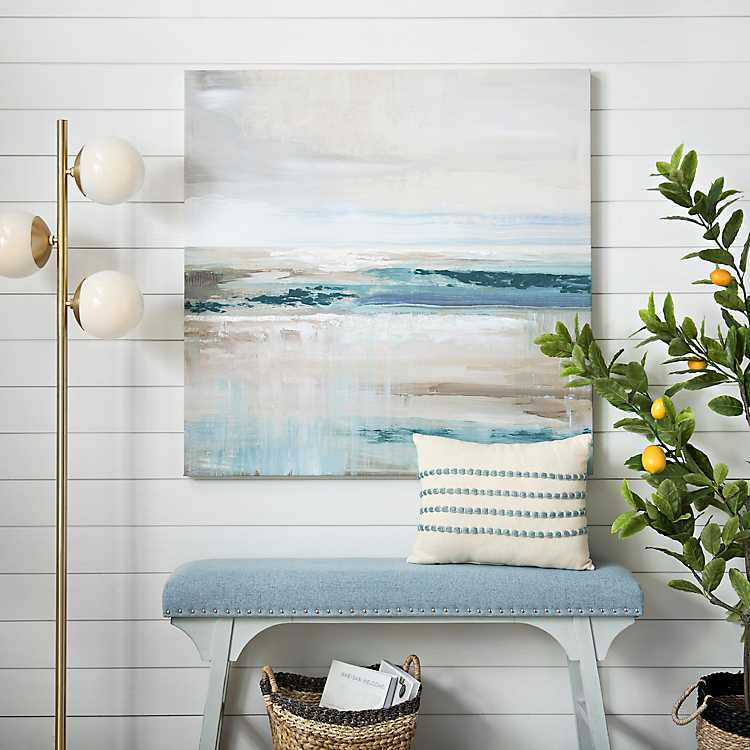 Abstract Blue Sea Canvas Art Print Kirklands
