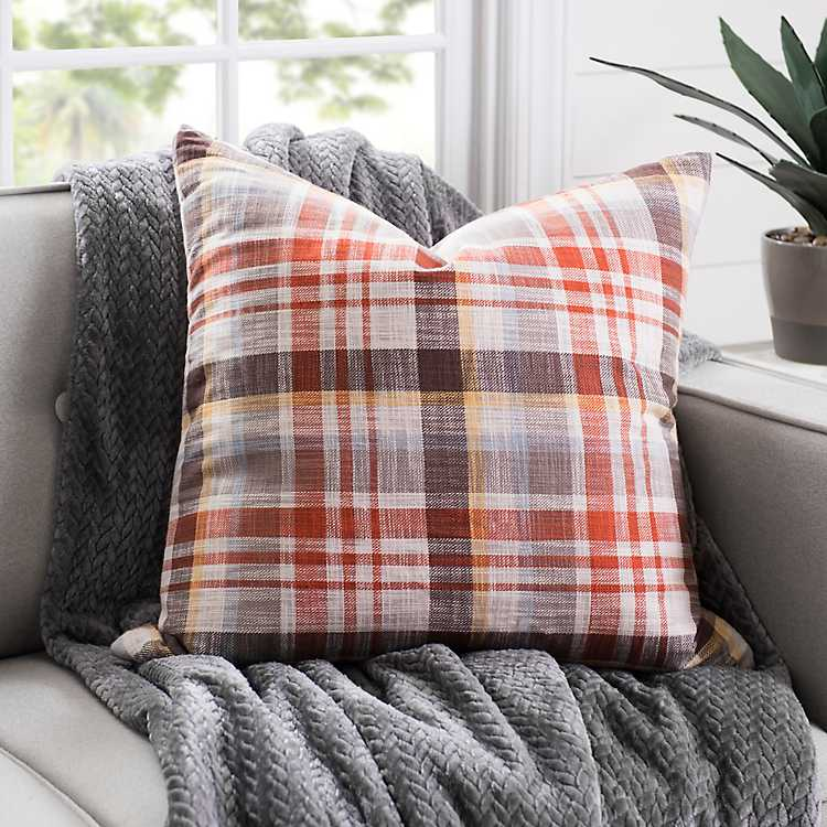 Woven Plaid Pillow Kirklands