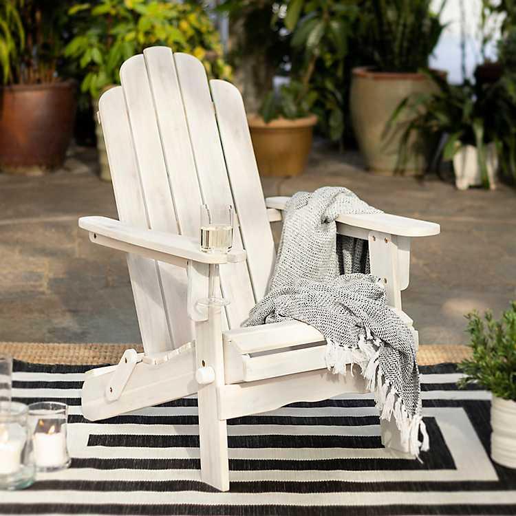 Heavy Duty Sun Lounger, White Wash Wood Adirondack Chair Kirklands