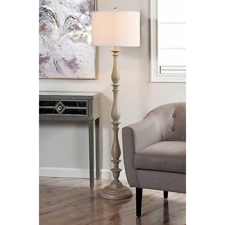 Gray Traditional Spindle Floor Lamp Kirklands