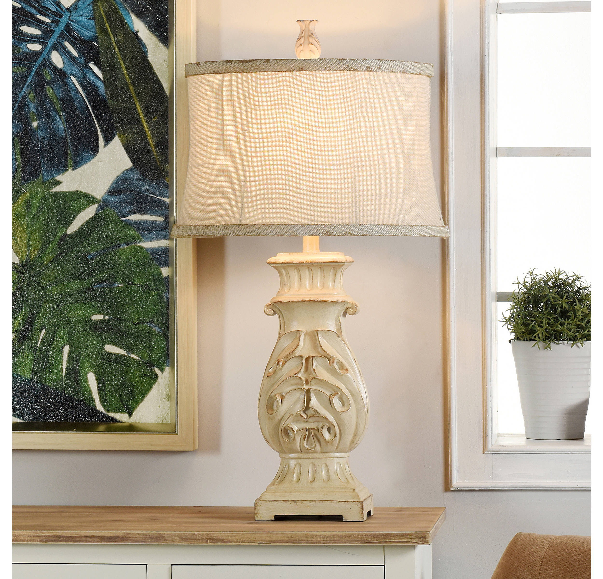 Natural French Country Table Lamp