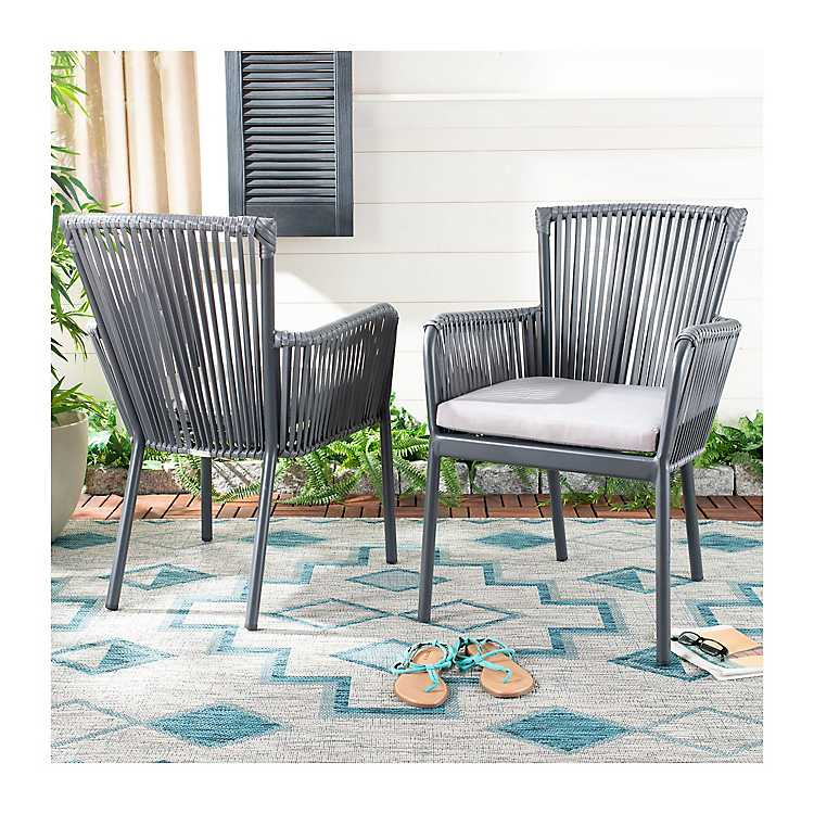 Payton Rope Stackable Outdoor Chairs Set Of 2 Kirklands