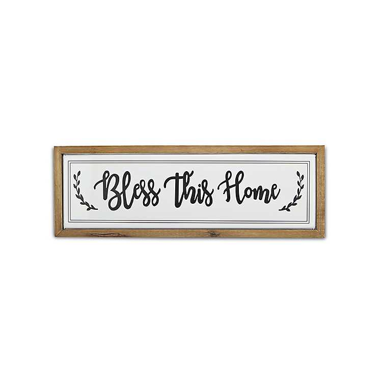 Bless This Kitchen And All Who Enter Wood Sign