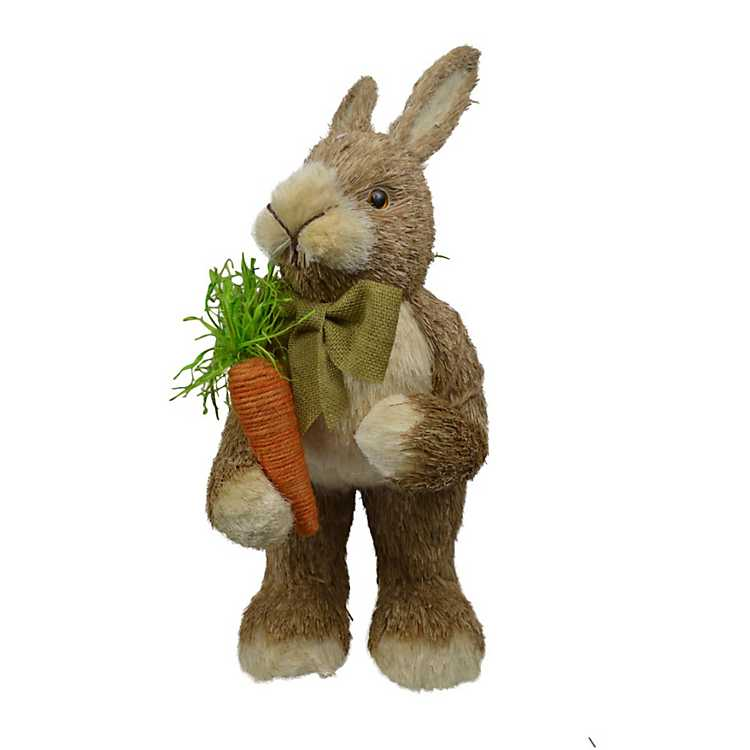 Grass Easter Bunny With Carrot Kirklands