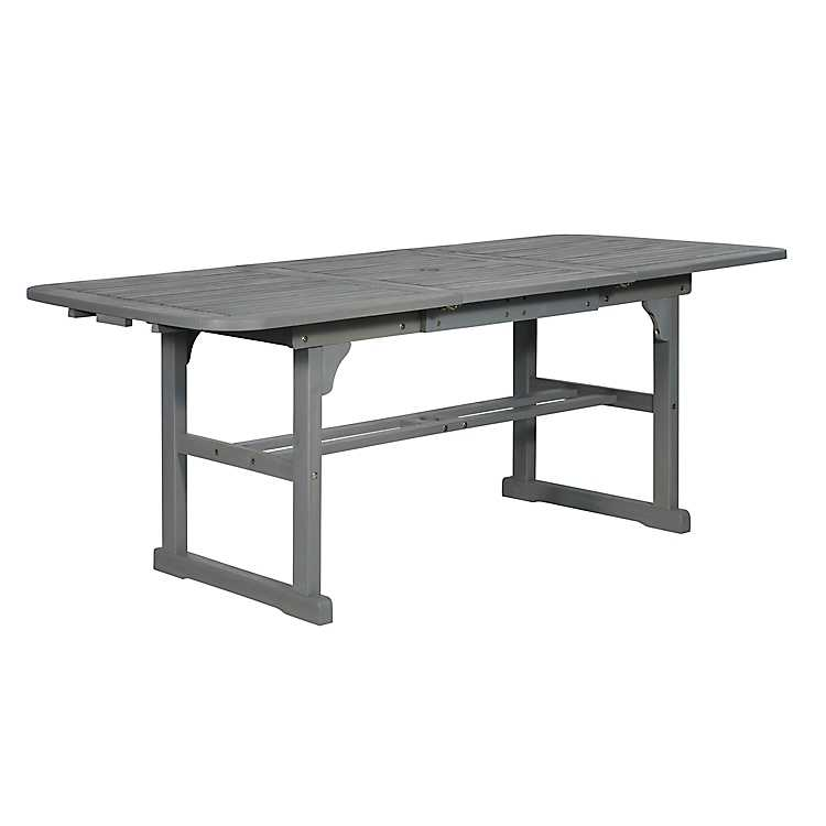 Gray Wash Extendable Outdoor Dining Table Kirklands