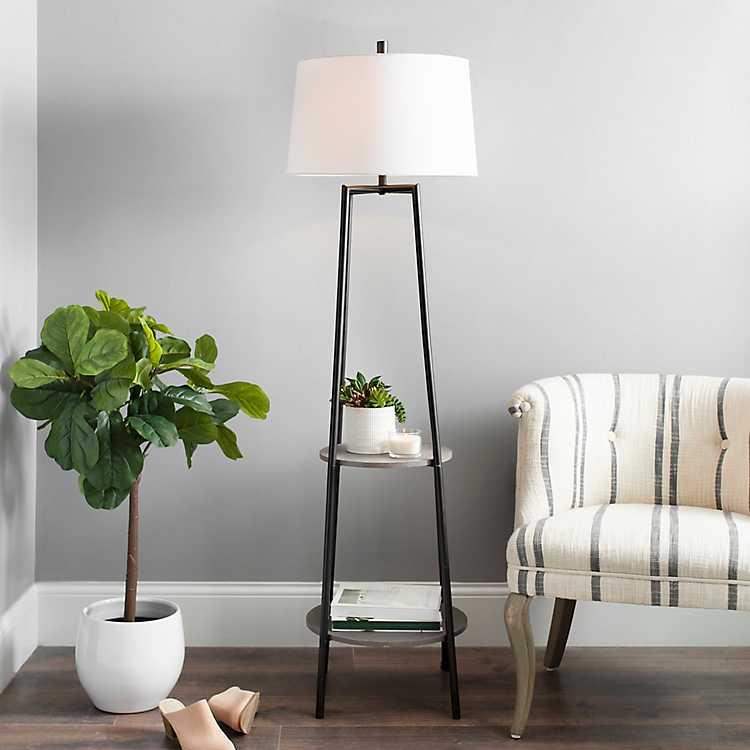 Freemont 2 Tier Shelf Floor Lamp