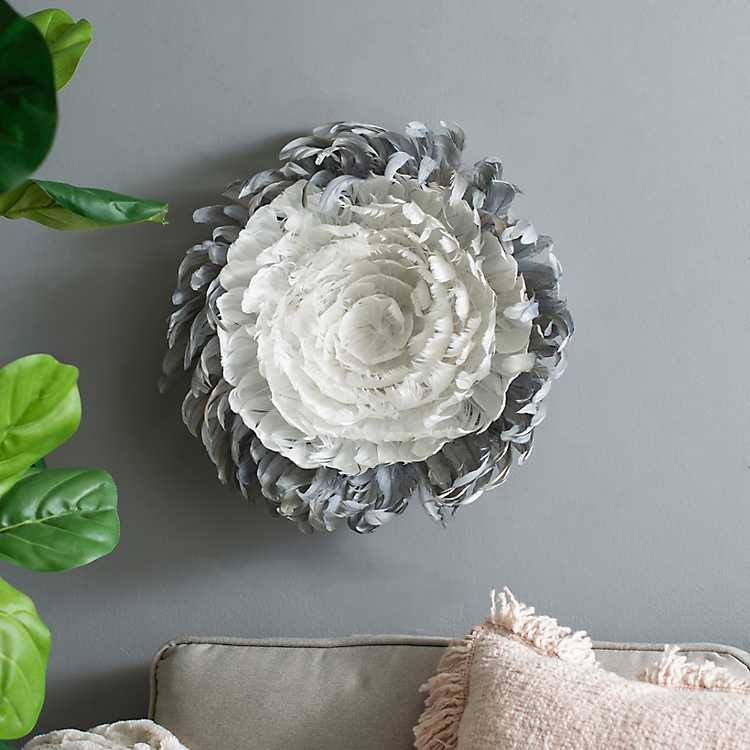 Gray And White Small Juju Hat Wall Plaque Kirklands