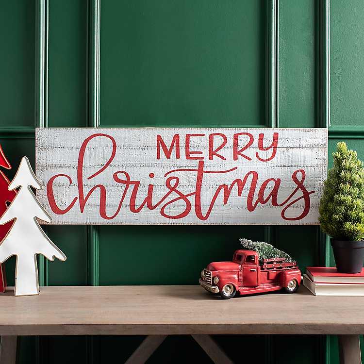 Christmas Wall Decor Large Merry Christmas Wood Sign Farmhouse Christmas Decor Merry Christmas Sign Merry Christmas Sign Wood