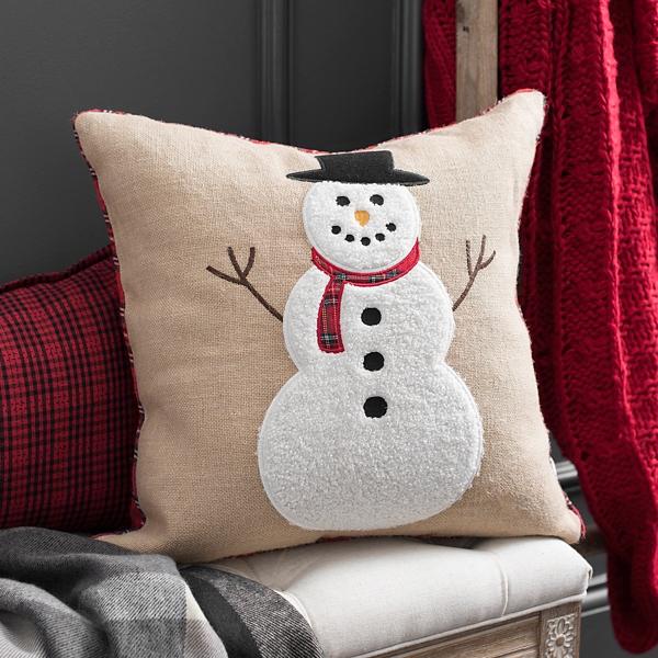 Jute Snowman Pillow Kirklands