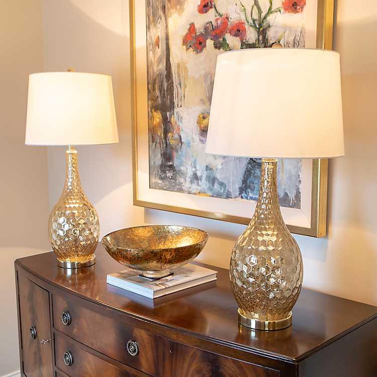 Gold Glass Genie Table Lamps Set Of 2 Kirklands