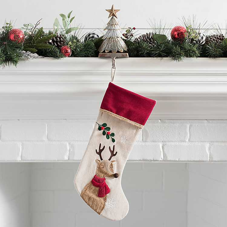 Rustic Reindeer Stocking Kirklands