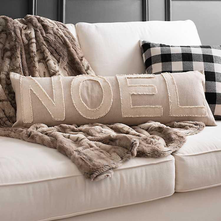 Cream Noel Pillow Kirklands