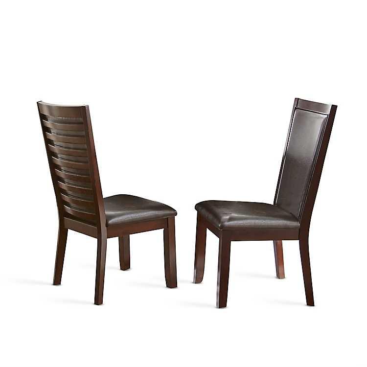 Dark Brown Cherry Finish Dining Chairs Set Of 2 Kirklands