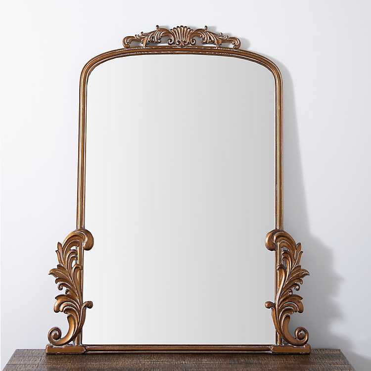 Gold Bordeaux Ornate Scroll Mirror Kirklands