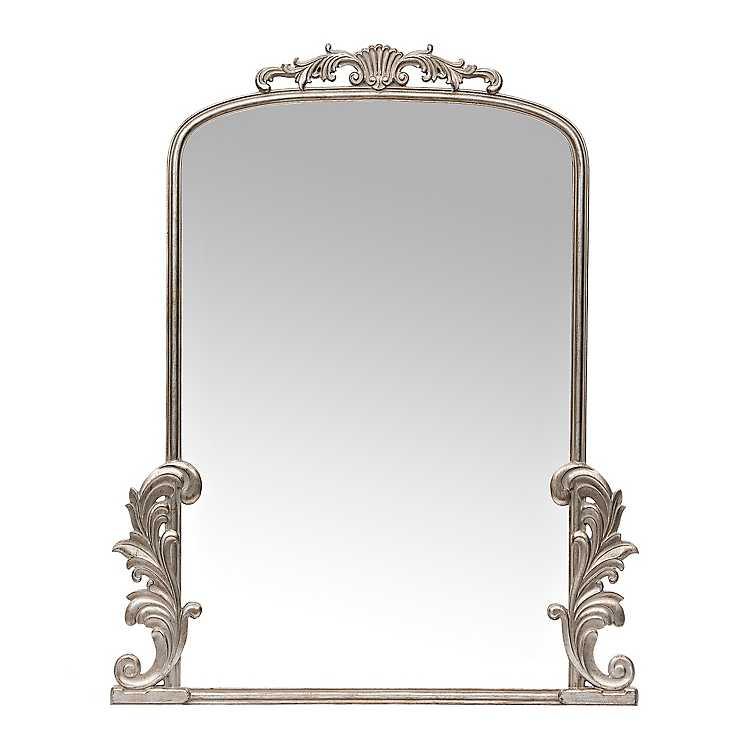 Silver Bordeaux Ornate Scroll Mirror Kirklands