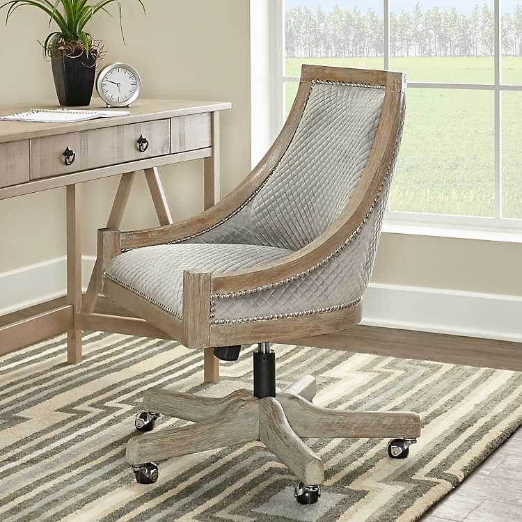 Hannah Gray Quilted Office Chair Kirklands