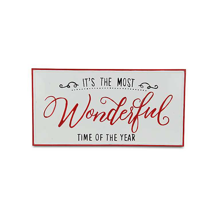 Most Wonderful Time Of The Year Metal Wall Plaque Kirklands