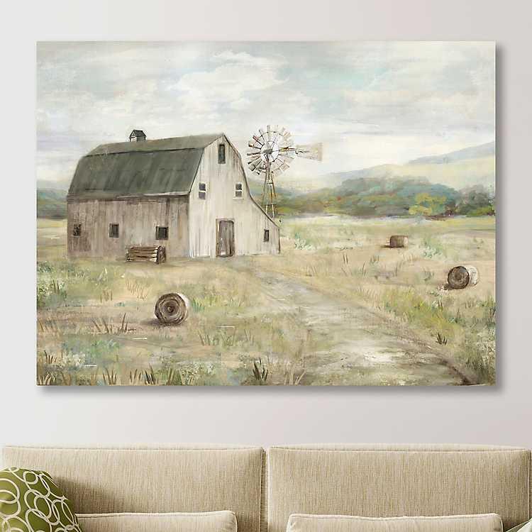 On The Farm Giclee Canvas Art Print Kirklands