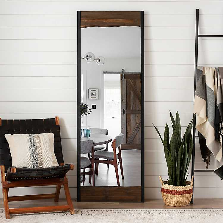 Live Edge Wood And Metal Full Length Mirror Kirklands