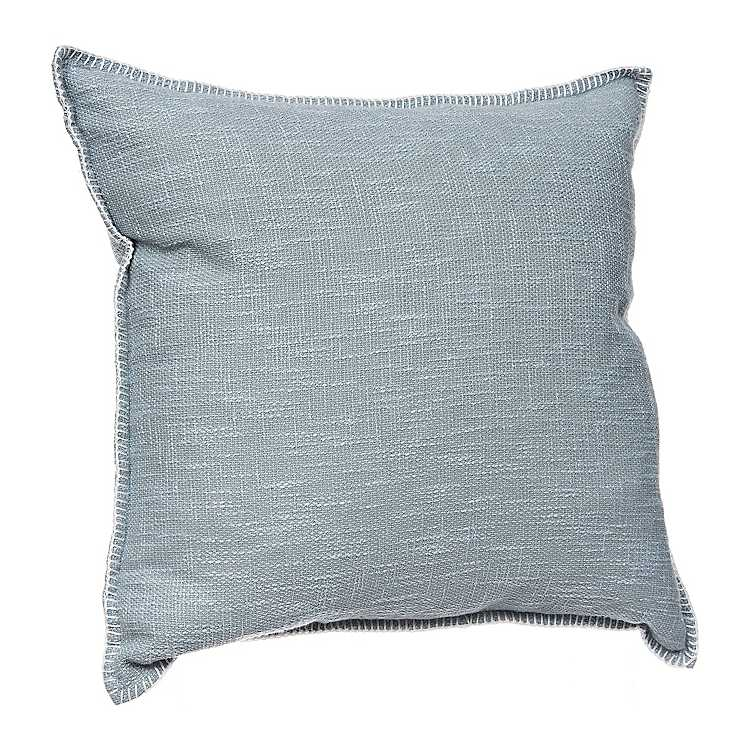 Mist Whipstitch Pillow Kirklands