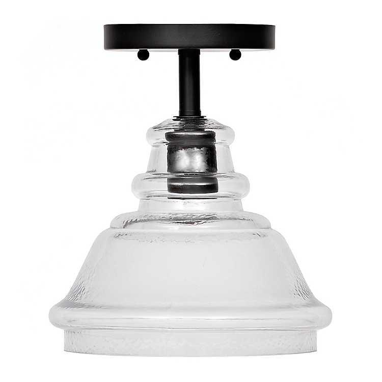 Dimpled Glass Flush Mount Ceiling Light Kirklands