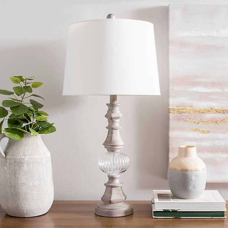Sandy Gray And Crystal Table Lamp Kirklands