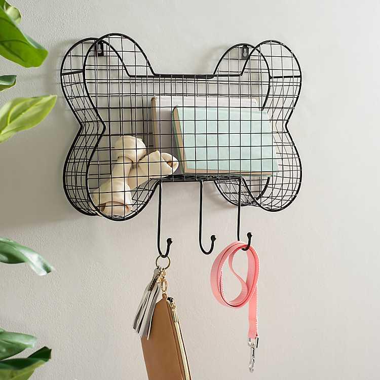 Wire Dog Bone Hanging Basket With Hooks Kirklands