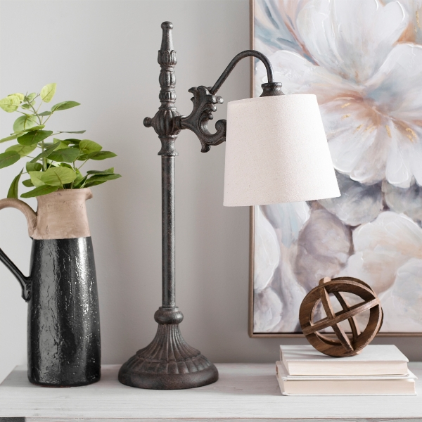 Black Metal Bronze Base Table Lamp