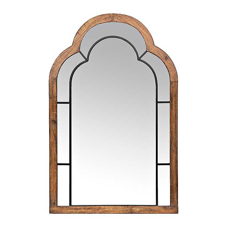 Wood And Metal Arched Wall Mirror Kirklands