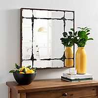 Rustic Modern Square Mirror