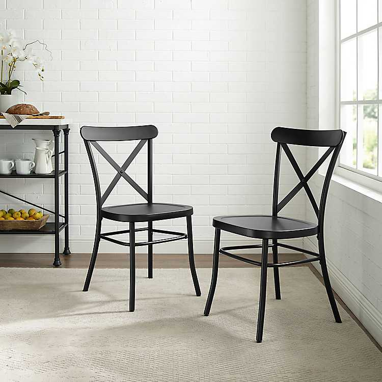 Black Metal Melody Dining Chairs Set Of 2 Kirklands