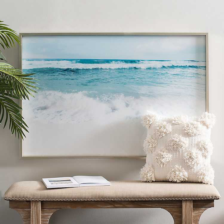 Ocean Waves Framed Art Print Kirklands