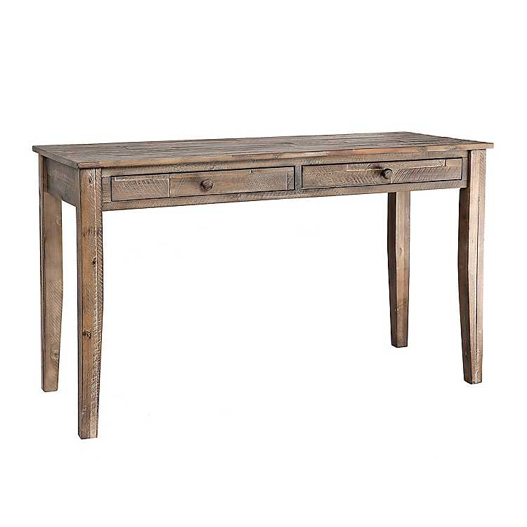 Graywash 2 Drawer Layla Console Table