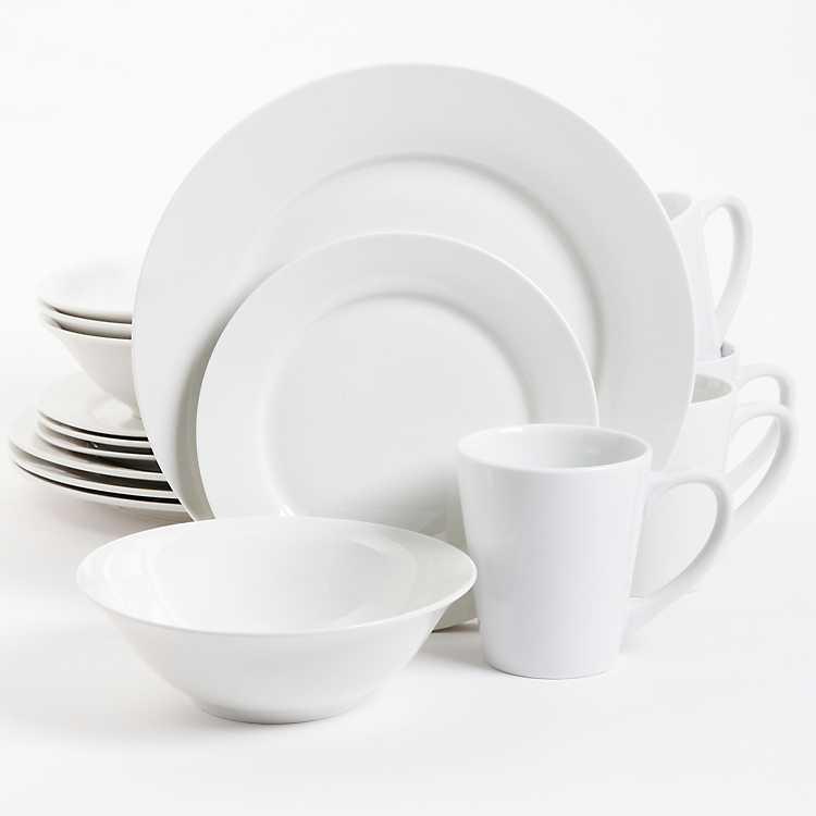 Fine White Ceramic 16 Pc Dinnerware Set Kirklands