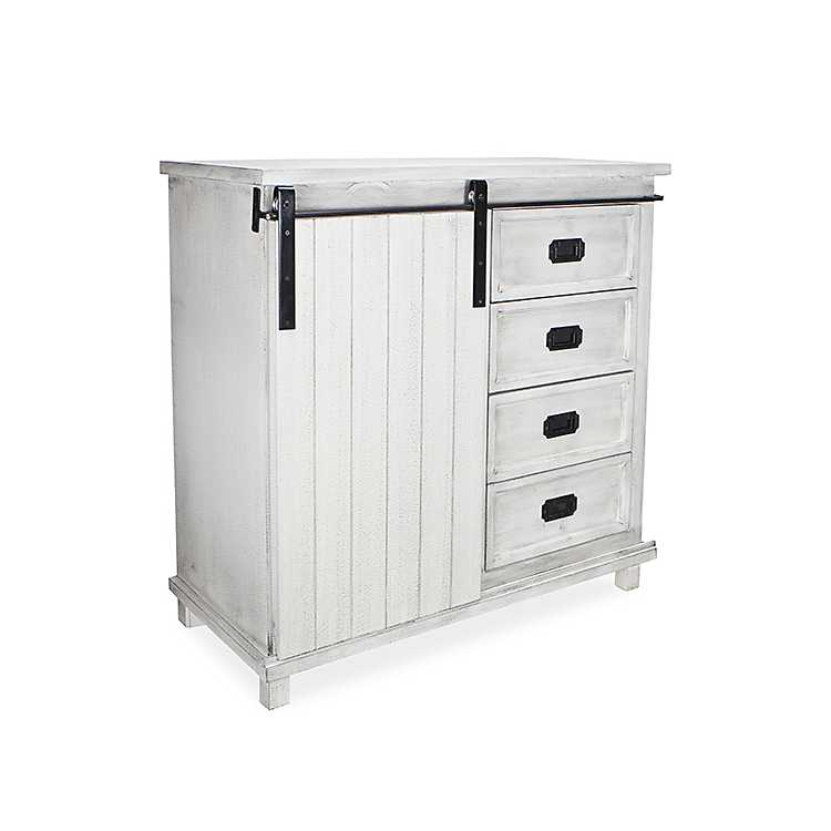 Tall White Sliding Barn Door Cabinet Kirklands