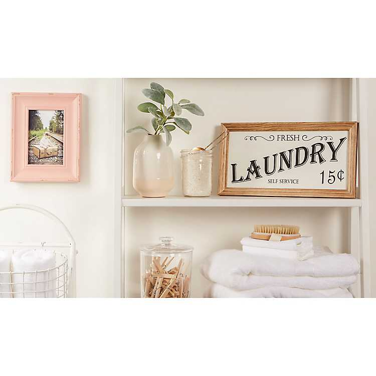 Wood And Metal Laundry Framed Plaque Kirklands
