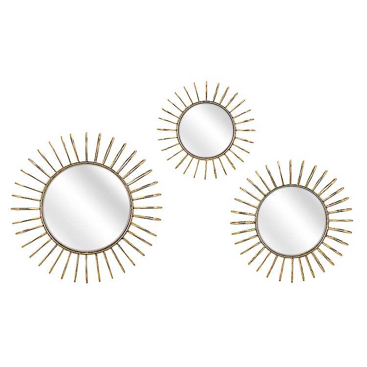 Gold Starburst Mirrors Set Of 3 Kirklands