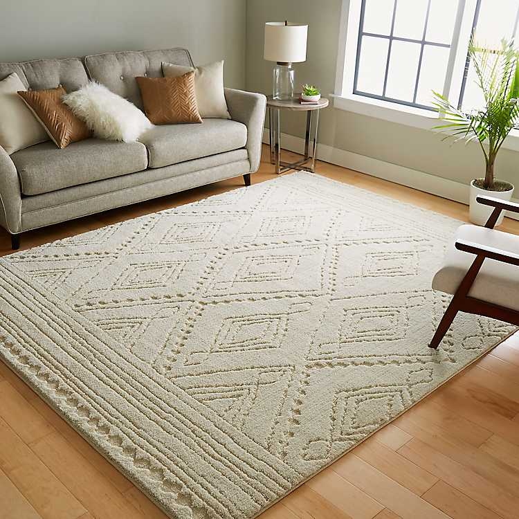 Linen Naomi Area Rug 8x10 Kirklands, Living Room Rugs