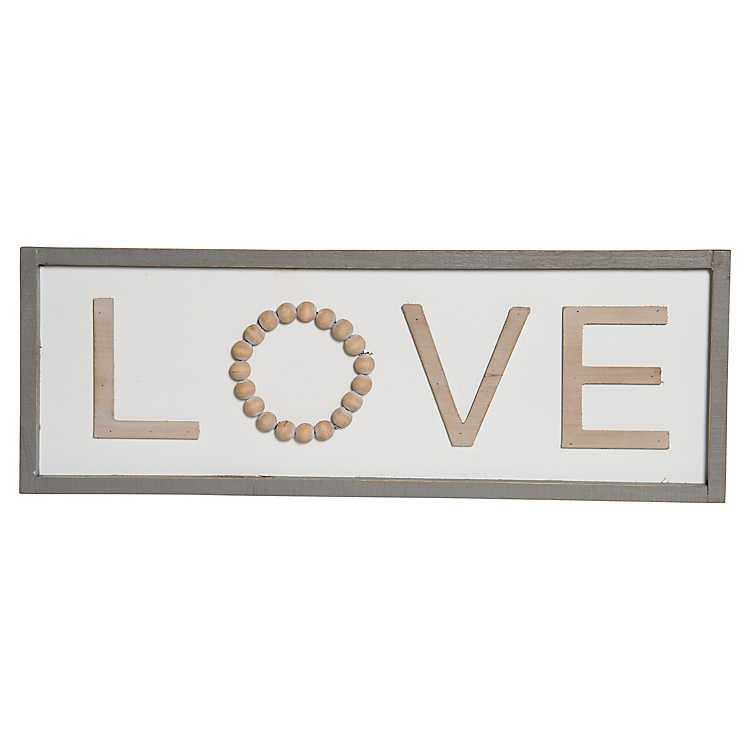 Love Wooden Sign Kirklands