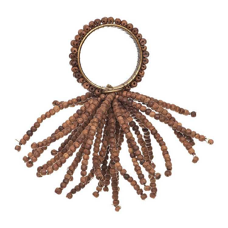Wooden Beads Napkin Ring Kirklands