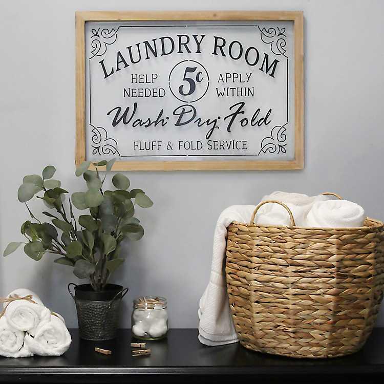Vintage Laundry Room Wall Plaque Kirklands