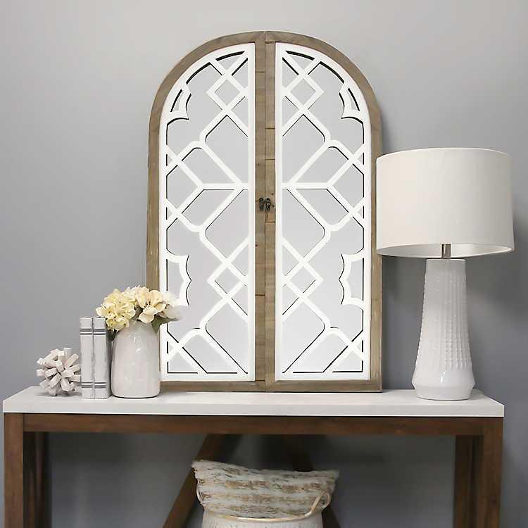 White Lattice Gate Decorative Mirror Kirklands