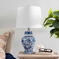 Blue and White Ginger Vase Table Lamp