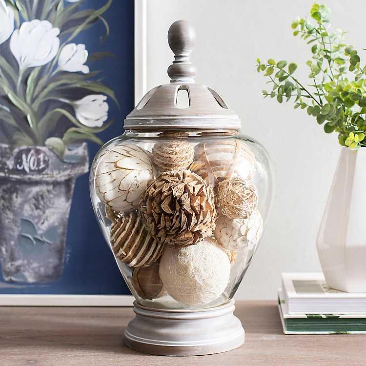 Gray Washed Majestic Potpourri Jar Kirklands